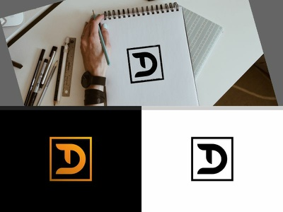Lettermark T and D on Square iconography icons art clean ui app web illustration minimal type typography lettering identity brand icon logo branding vector flat design