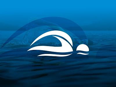 Swimming Logo web illustrator blue water art minimal sports logo sport clean vector icon pool swimming illustration identity brand logo branding flat design