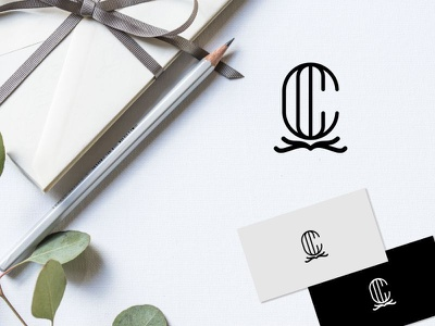 letter c modern logo type clean minimal identity brand icon logo branding vector flat design