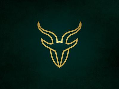 GOAT LOGO DESIGN clean minimal identity brand logo branding illustration vector flat design