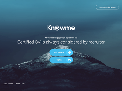Signin/Signup page for Candidates to create & Certify their CV dribbble best shot mountain applicants cv resume cv recruitment recruitment agency flatdesign web signup signin dark ui dark theme modern design graphic design uidesign dribbbleweeklywarmup website design dribbble adobe photoshop