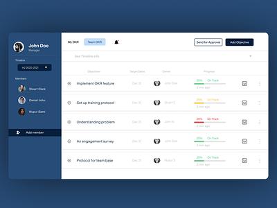 OKR Dashboard ui results key objective web design ux design ui  ux dashboard design dashboard ui okr