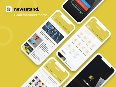 Newstand | A better news experience news mobile app popular ui design adobe xd ui design news app product design ux design ui  ux