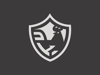 rooster shield vector flat branding logodesign rooster brand logo