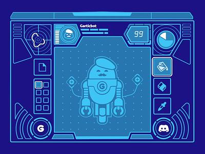 Bot control infograph interface flat robotics vectors vector art tech robot vector