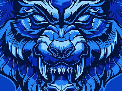 Mad Fox monsters flat animal wolf fox vector
