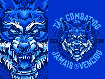 Design for @usecantera flat illustration apparel tee t-shirt fox vector football