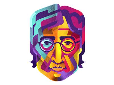 Lennon lennon colorful cmyk color vector beatles