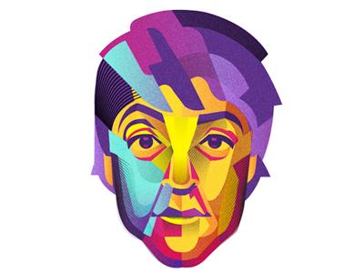 Paul McCartney mccartney music lennon colorful cmyk color vector beatles
