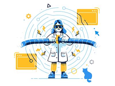 Connection illustration color flat editorial ui infographic logo illustration ios app design vector