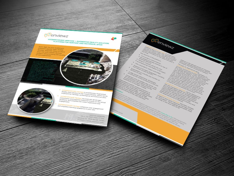 Cutting Edge Augemnted Brochure print ready technology a4 broucher a4 leaflet a4