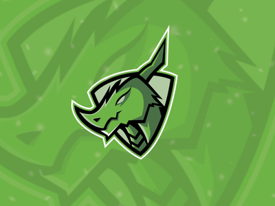 Dragon green logo design dribbble dragon terengganu malaysia vector