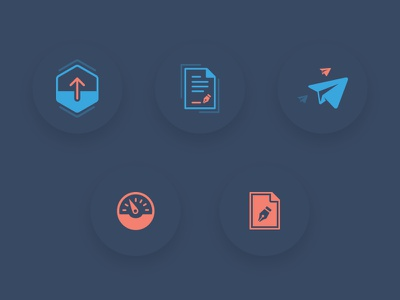 Icons for landing page and app dashboard landing page application app dashboard signature icons illustration
