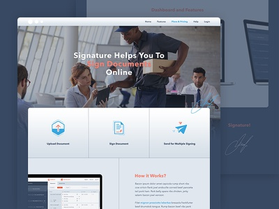 Homepage for an app website web design landing page website flat signature aplication app homepage