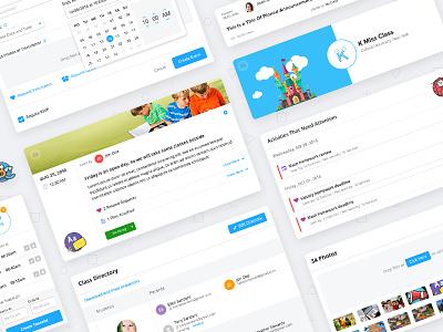 ClassTag, Education App illustration interaction design interface design ux ui information architecture education dashboard application design app design app