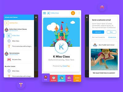 Multilevel mobile navigation app app design dashboard education information architecture ui ux interface design interaction design ios android mobile