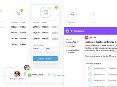 Rethinking UX of parent-teacher conferences ux design ui design interaction design interface design ux ui information architecture education dashboard application design app design app