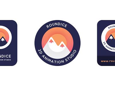 Roundice Logo & Identity identity branding sun ice illustration motion 2d animation animation logo design logo