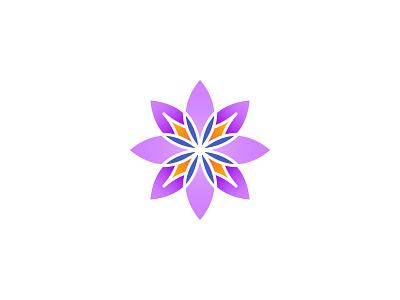 Flower Logo homemade craft purple gradient flower identity illustration branding flowerillustration logodesign logo