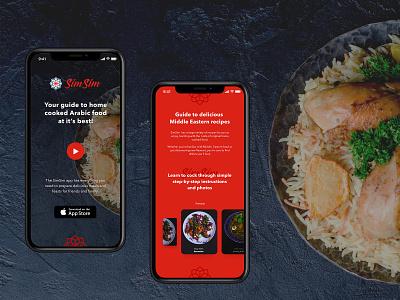 Food App Landing Page mobile app design mobile ios web design food landing page mobile layout ios app mobile app landing page food app app design app