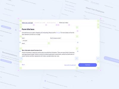 Dynamic Forms Design System interaction design user experience forms form elements form design form builder form field interface design app ui information architecture dashboard app design