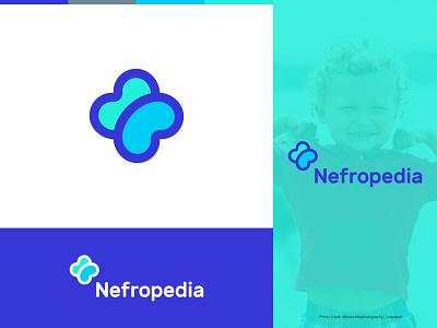 Nefropedia, Kidney medical services logo identity design branding logo identity monomark logogrid medical cross children kidney nephrology healthcare health medical monogram design logo design logo