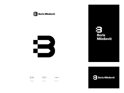 Personal logo exploration personal logo brand identity logotype logomarks bm logomark monomark branding typography vector design icon logo design logo