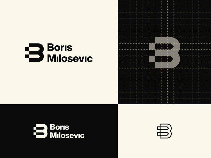 BM Personal Logo brandidentity bm pixel pencil logo mark logotype logogrid logogram monomark monogram personal branding personal logo branding design branding design logo design logo