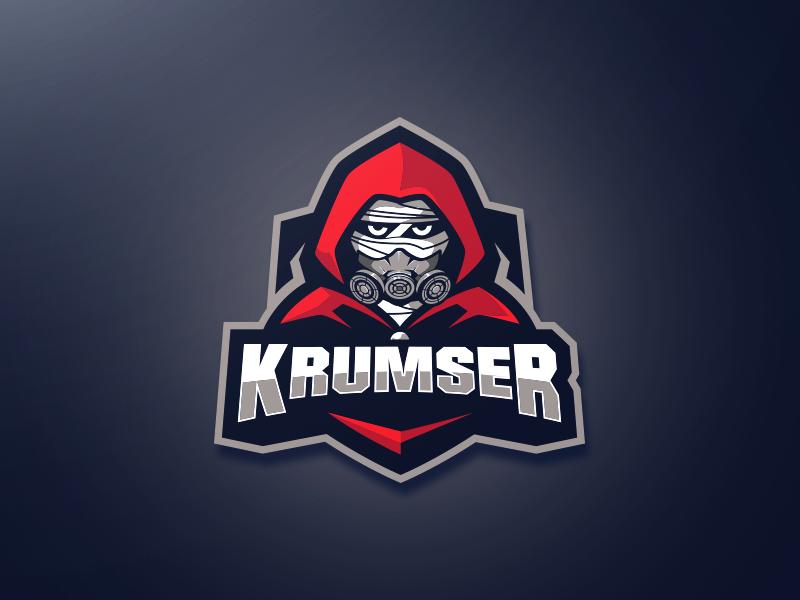 KRUMSER streamer esportslogo esports twitch branding mascotlogo illustration gamers esportlogo esport vector teamlogo mascot sloth gaming gamer design art logo gaminglogo