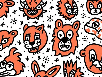 Beasts of Arizona arizona line hand drawn illustration cartoon