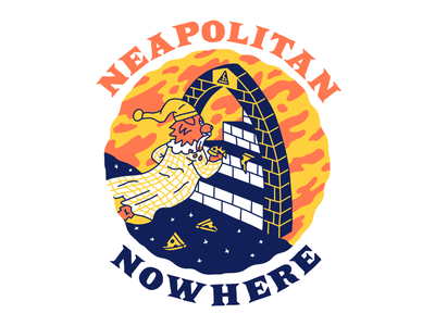 The Neapolitan Path cartoon hand drawn line illustration