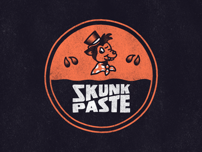 Skunk Paste vintage vintage badge logo cartoon hand drawn illustration