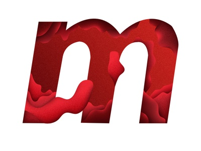 m illustration graphic design red pink flat minimal design clean vector illustrator illustration