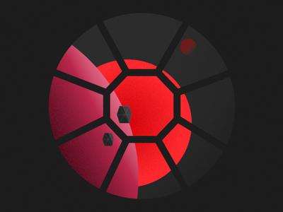 tie fighter above red moons graphicdesign isometricsdesign pink illustration vector minimal flat clean flat designs graphics red illustrator graphic design starwars