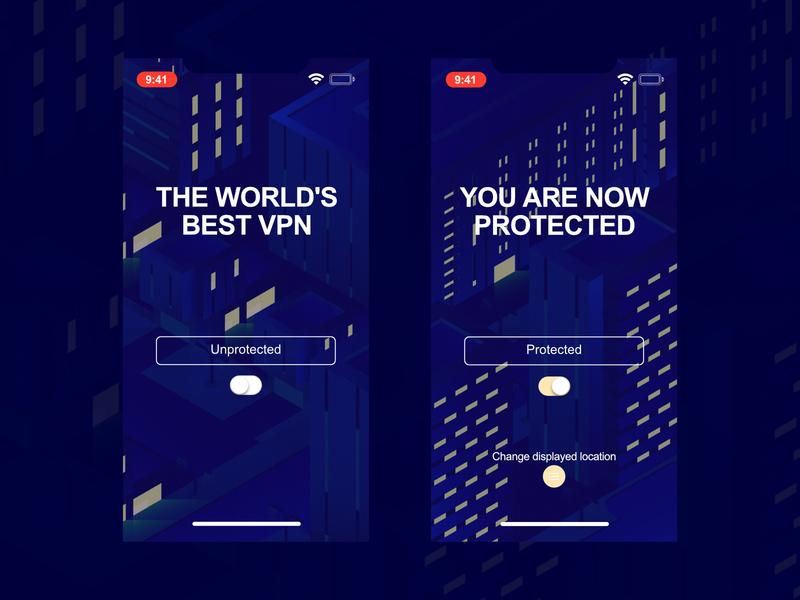VPN UI Design uiux ui  ux apple ui design illustrator creativity branding app design vector design ux ui illustration uidesign