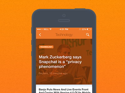 [BETA] News Application news browse app application ios reuters news news article