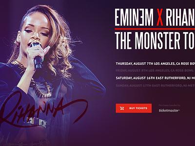 Eminem & Rihanna Ticketmaster Tour music rihanna ticketmaster concept