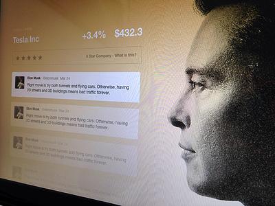 Stockflare Elon Musk Mini-Site web website stocks twitter feed imagery photography app application