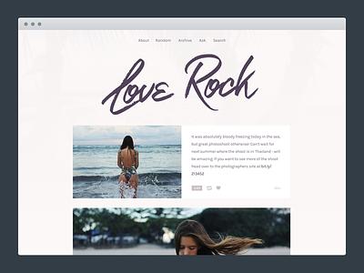 Love Rock Tumblr Theme graphic typography clean theme tumblr