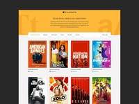 Film Fonts Homepage Design