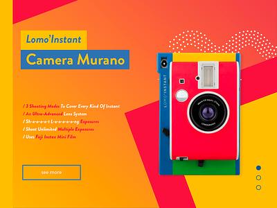 Lomo'Instant - Murano - Serie 1 lomography slider murano yellow photography gradient design flat lomo