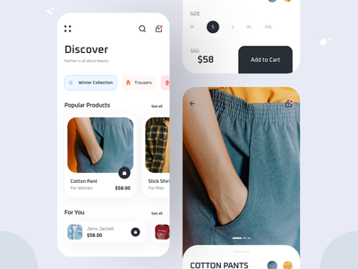 E-Commerce App app design fashion fashion app ecommerce ecommerce app app design ui