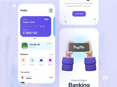 Mobile Banking App ui ui design app ui wallet finance mobile banking banking banking app app app design