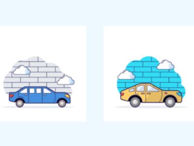 Flat transportation icon