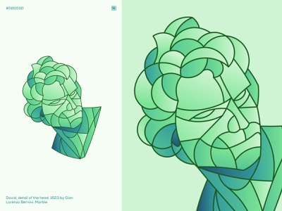 Geometric Collage #02002D circle green head shape collage marble stone sculpture lineart line lines geometry geometric