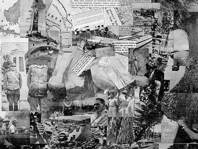 Newspaper Collage vintage old geometry geometric philippines journalism photo paper war news art collage newspaper