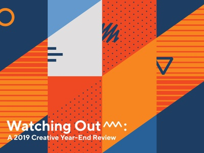 Geometric Cover Image report review orange blue line cover art cover vector pattern shapes abstract illustration geometry geometric