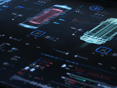 ui_pcs ae adobe digital cyberpunk cyber scifi flat octanerender cinema 4d c4d octane vector ux illustration hud design after effects ui illustrator fui