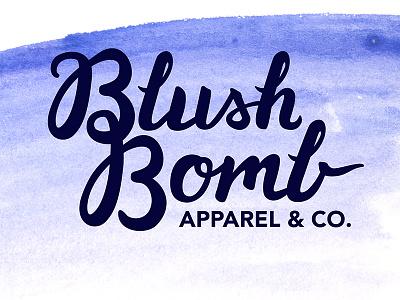 Blush Bomb Apparel & Co. lettering branding logo