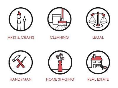Small Business Club Icons web icons